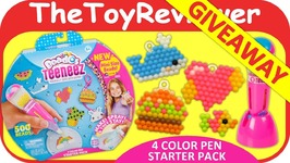 GIVEAWAY Beados Teeneez S1 4 Color Pen Starter Pack Aquabeads Unboxing Toy Review
