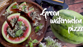 Cheesy Watermelon Pizza - How To Make Watermelon Pizza