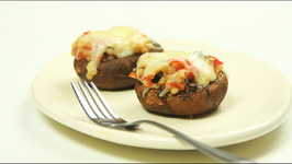 Couscous-Stuffed Portobello Mushroom Caps with Mozzarella