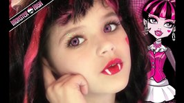 Draculaura Monster High Doll Costume Makeup Tutorial for Halloween or Cosplay
