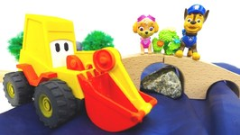 Toy Cars  Excavator Max Builds A Bridge For Paw Patrol Chase And Skye  Toys And Cars On KidsFirstTV