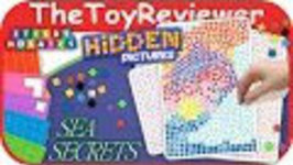 Sticky Mosaics Hidden Pictures Sea Secrets Unboxing Tutorial By TheToyReviewer