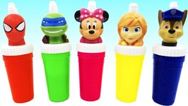 Learn Colors Slime Surprise Toys Mickey Mouse Superhero Paw Patrol