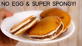 Dora Cake - Easy No Egg Super Spongy Dorayaki Doraemon