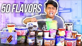 MIXING 50 ICE CREAM FLAVORS TOGETHER AND EATING IT