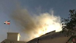 Smoke Spotted Above Santo Domingo Stadium After Fire Cancels Baseball Match