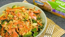 Minute Sesame Ginger Salmon Salad