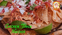 BBQ Chicken Nachos / Chicken Tinga Recipe