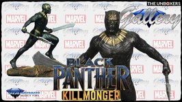 Black Panther Gallery Marvel Collection Killmonger Statue Unboxing