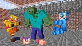 FNAF vs Mobs: Season 2 - Monster School (Five Nights At Freddy's)