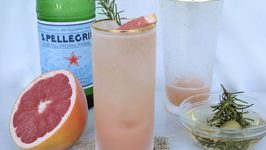 Grapefruit, Rosemary And Ginger Mocktail