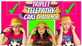 TWIN Telepathy Cake Challenge - Triplet Telepathy Edition