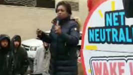 FCC Commissioner Mignon Clyburn Speaks at Net Neutrality Rally