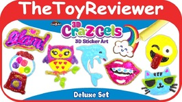 3D Cra-Z-Gels Sticker Art Deluxe Set Window Clings Cra-Z-Art Unboxing Toy Review