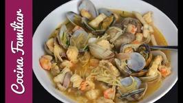 Sopa de pescado y marisco- Recetas caseras- Caldo de pescado y marisco