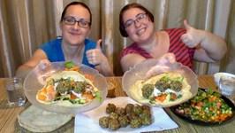 Falafel Wrap -Gay Family Mukbang - Eating Show
