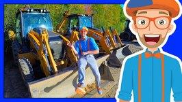 The Blippi Backhoe Video - Diggers for Children