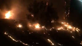 Brush Fire Spotted Near Highway 101 in Downtown Los Angeles