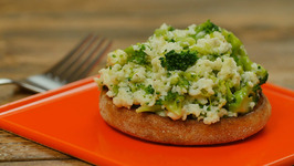 Broccoli And Cheese Egg White Scramble On Whole-Wheat English Muffin