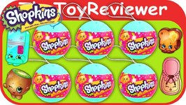 Shopkins x6 Christmas Ornament 2 Shopkins In A Bauble Unboxing Toy Review