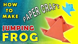 Paper Jumping Frog Folding Paper Crafts For Kids Origami