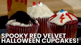 Spooky Red Velvet Halloween Cupcakes!