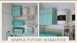 Home Organization  Simple Pantry Organization Ideas