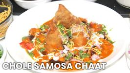 Chole Samosa Chaat