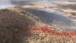 Arizona Firefighters Battle 600 Acre Fife Fire From Air