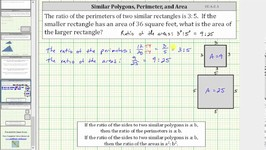 Similar Polygons Find Missing Area Given the Ratio of Perimeters CC 6 G 1