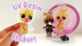 3D UV Resin Shaker Doll Prezzie - LOL Surprise Glitter Globe Winter Disco