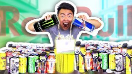 MIXING 100 ENERGY DRINKS TOGETHER AND DRINKING IT