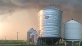Possible Tornado Forms Near Alida, Saskatchewan