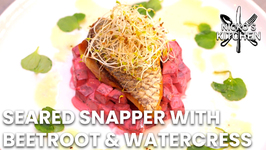 Seared Snapper With Beetroot And Watercress Salad