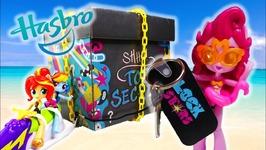 Equestria Girls open Hasbro BIG Surprise Lock Stars Box