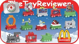 2017 Holiday Express Train Happy Meal McDonalds Complete Set 12 Unboxing Toy Review