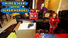 HIDE and SEEK with SUPER HEROES  DEION'S PLAYTIME