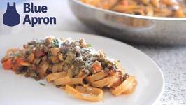 Lentil Bolognese - Blue Apron Recipe