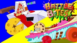 Savage Slice VS Chargin Chip - Battle Bites Cartoon - Full Episode - Race Cars - Fun Cartoons