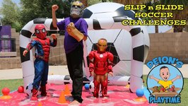 SLIP & SLIDE SOCCER CHALLENGES - SLIME BAFF -