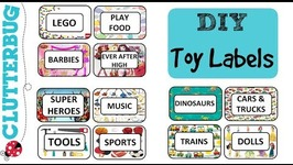 How to make FREE DIY custom labels for toy storage