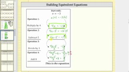 Create Equivalent Equations II (4 Steps)