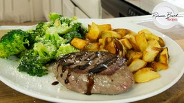 How To Make Basalmic Glazed Steak Garlic Broccoli And Potatoes Dinner, 30 Minutes Home Chef