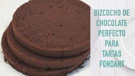 Bizcocho Perfecto para tartas Fondant de Chocolate - Bizcocho de Chocolate para Tortas