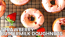 Breakfast Recipe - Baked Strawberry Buttermilk Doughnuts