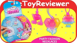Beados Teeneez Party Fashion Necklaces Theme Pack Aquabeads Unboxing Toy Review