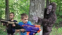 Nerf War - Bigfoot in the Woods