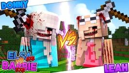 Minecraft EVIL PRINCESS HOUSE CHALLENGE - ELSA.EXE VS BARBIE.EXE!! Donny & Leah Games