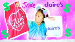 Tiana vs Mommy Challenge Buying The Cheapest Thing At Justice and Claire's Opening Squishy Toys