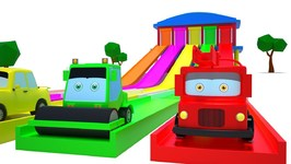 Learn Colors for Kids - Street Vehicles Videos - Car Cartoons Shows by Kids Channel